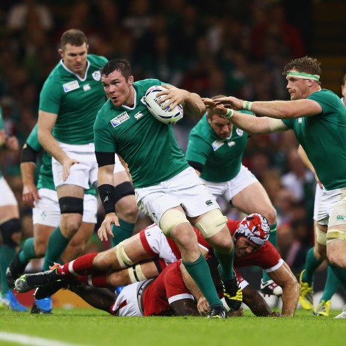 during the 2015 Rugby World Cup Pool D match between Ireland and Canada at the Millennium Stadium on September 19, 2015 in Cardiff, United Kingdom.