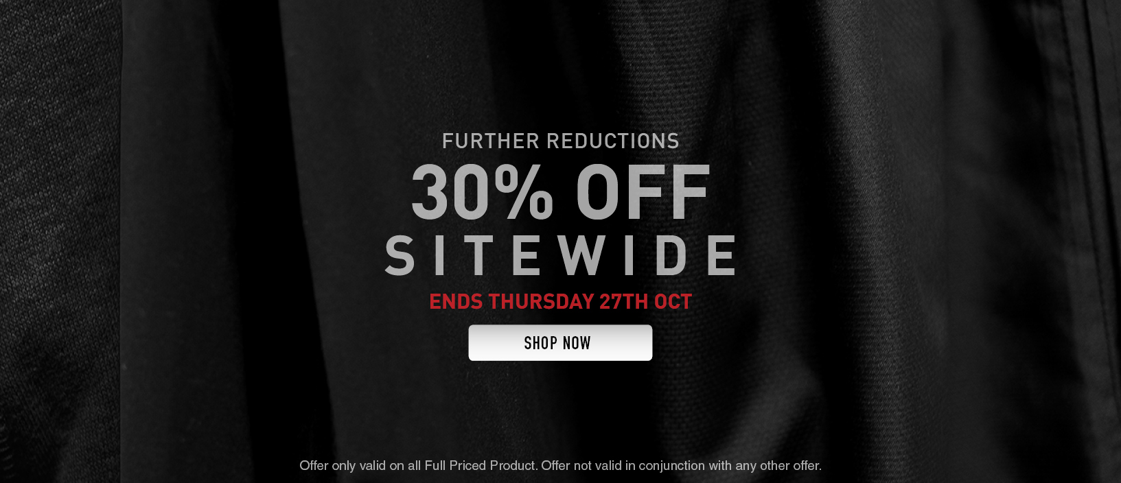 30% OFF Site Wide (Labour Day)
