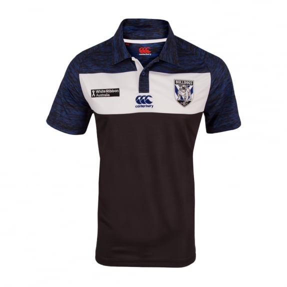 2016 BULLDOGS PRE SEASON POLO BLACK