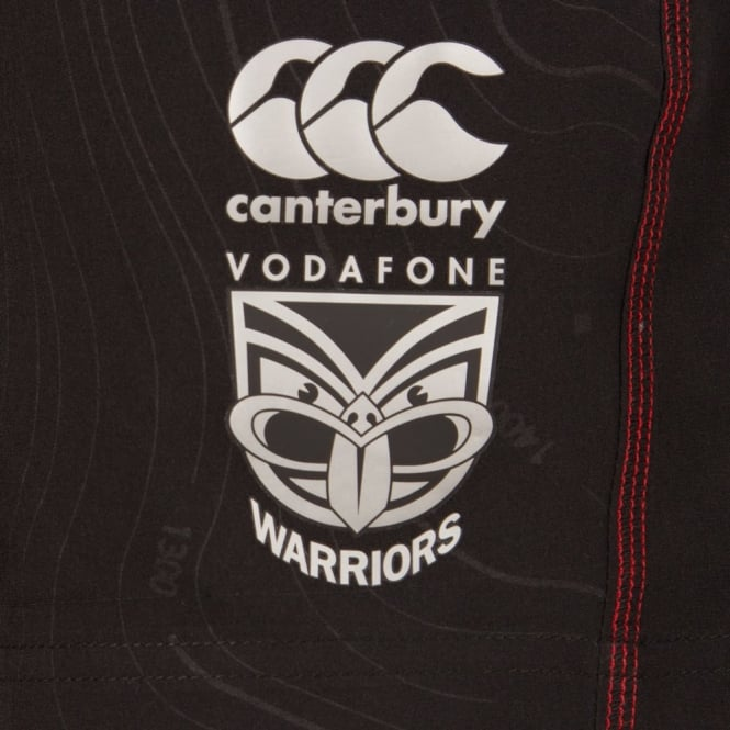 2016 VODAFONE WARRIORS GYM SHORT BLACK