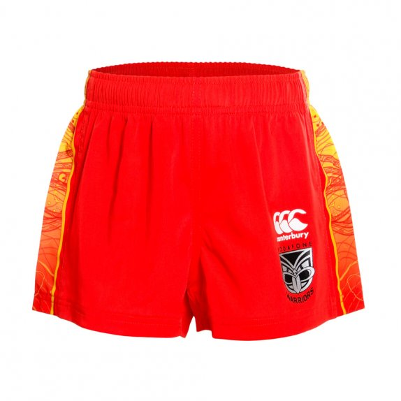 2016 VODAFONE WARRIORS KIDS TRAINING SHORT VODAFONE RED