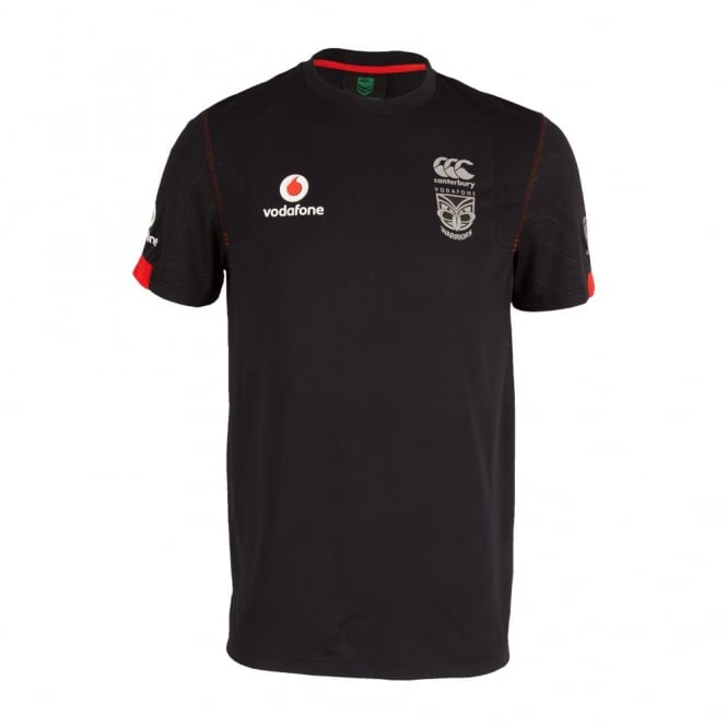 2016 VODAFONE WARRIORS KIDS TRAINING TEE BLACK