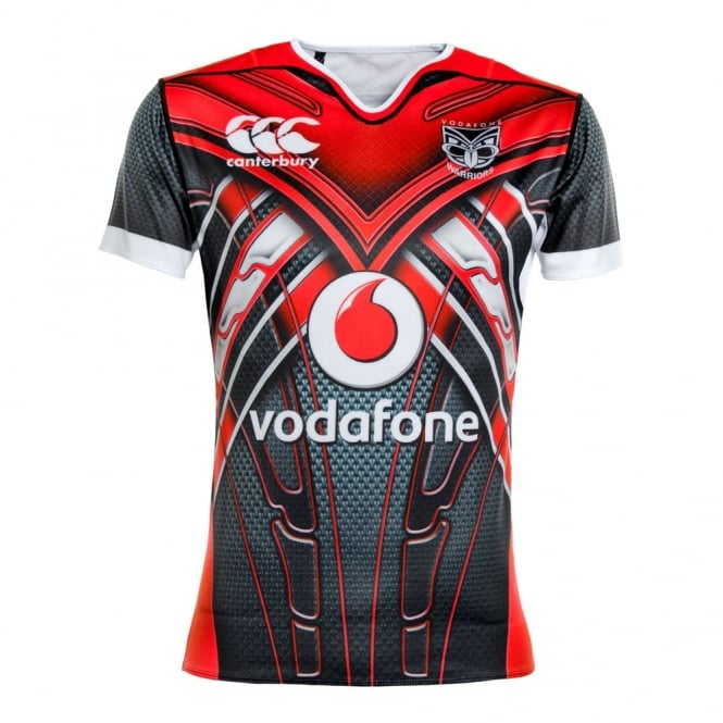 2016 VODAFONE WARRIORS U20'S TRAINING JERSEY BLACK