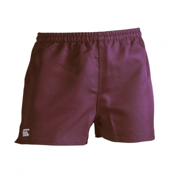 ACTION SHORT-POLY BRANDED MAROON