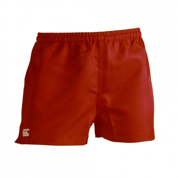 ACTION SHORT-POLY BRANDED SCARLET