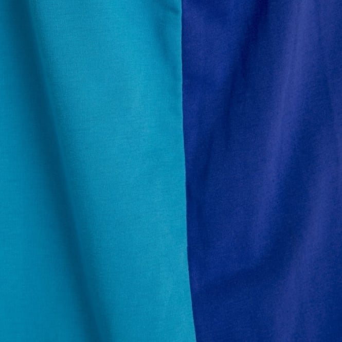 BLOCK LOGO SINGLET CLEMATIS BLUE