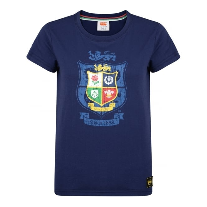 BRITISH & IRISH LIONS CREST TEE - WOMENS