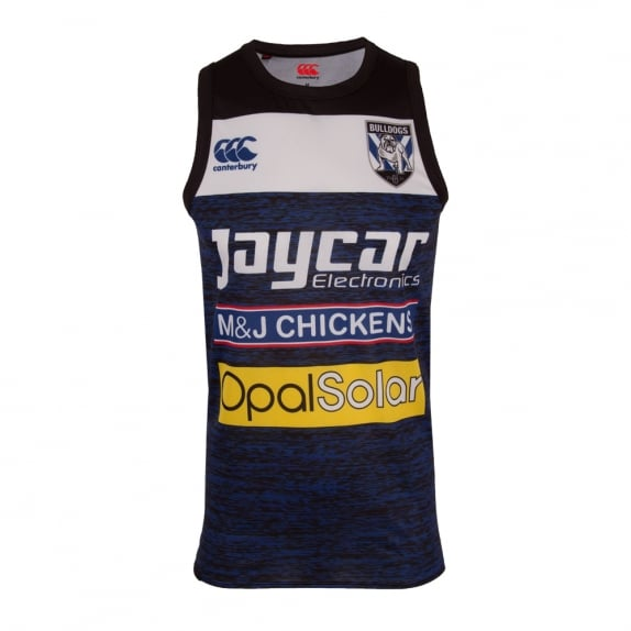 BULLDOGS TRAINING SINGLET BULLDOGS BLUE2011