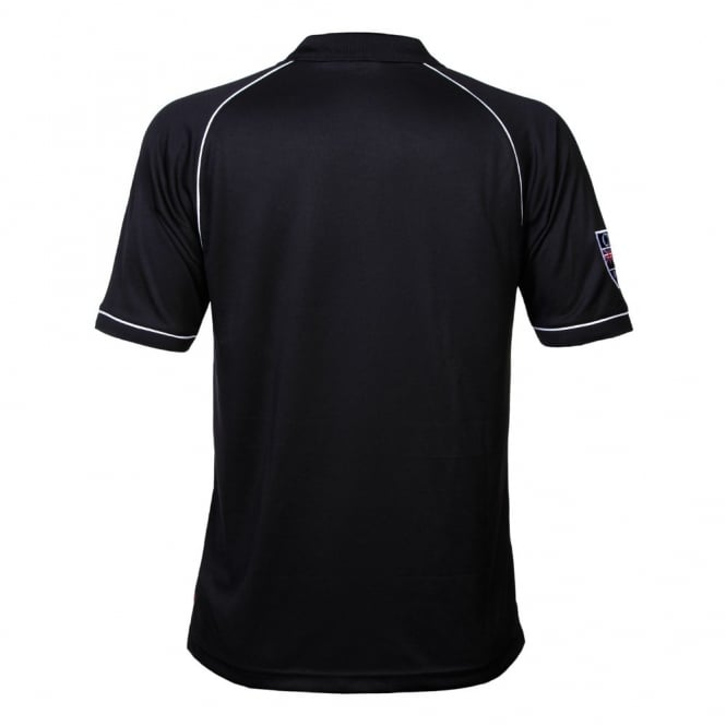 CCC PIPED FERN POLO BLACK