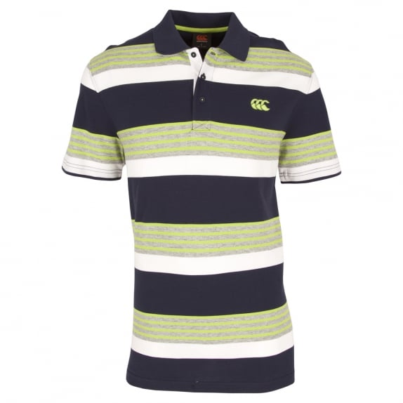 CODED YARN DYE POLO PEA GREEN
