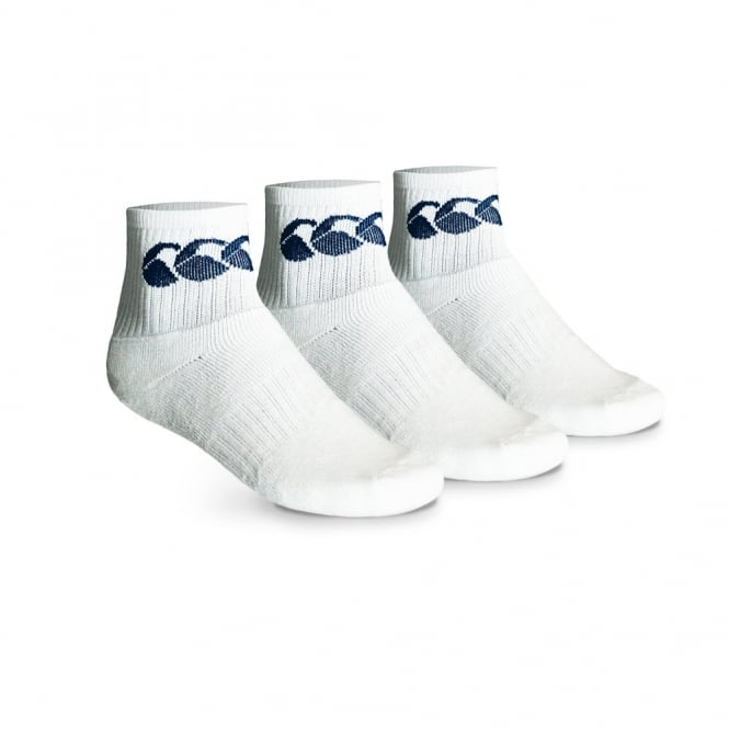 COTTON SPORT CREW SOCK 3PACK WHITE/NAVY
