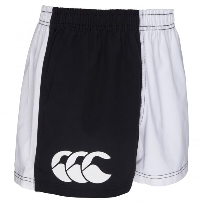 COTTON TWILL HARLEQUIN SHORT BLACK/WHITE