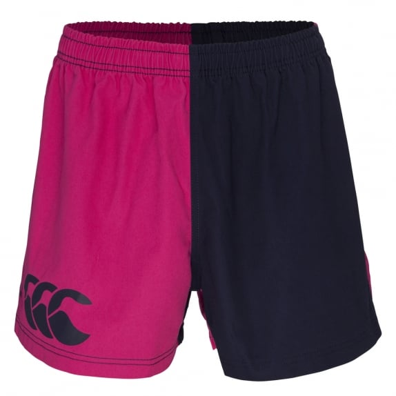 COTTON TWILL HARLEQUIN SHORT FUSCHIA/NAVY