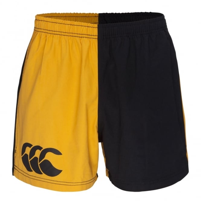 COTTON TWILL HARLEQUIN SHORT GOLD/BLACK