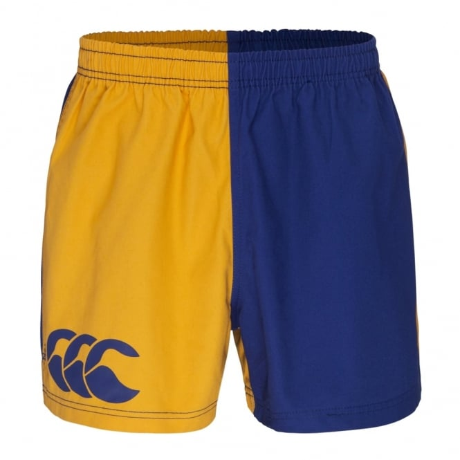 COTTON TWILL HARLEQUIN SHORT GOLD/ROYAL