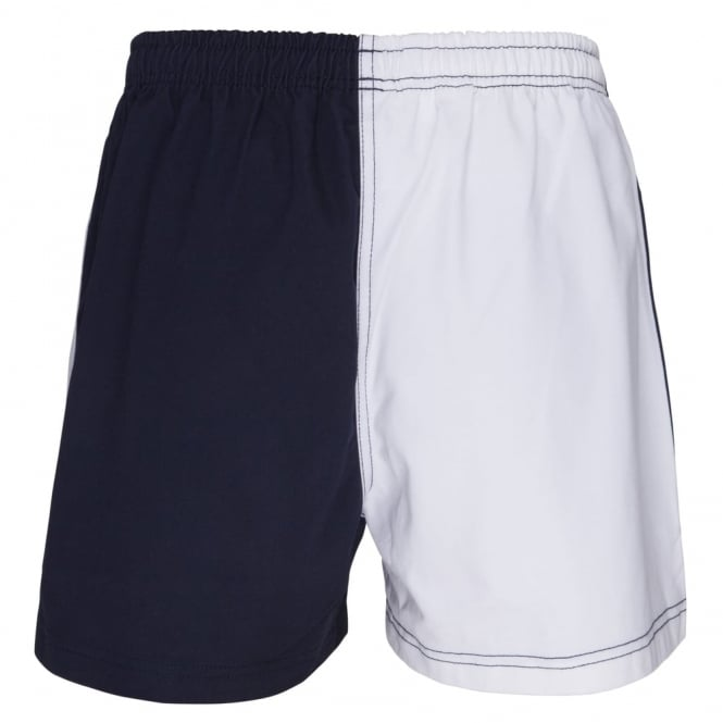 COTTON TWILL HARLEQUIN SHORT NAVY/WHITE