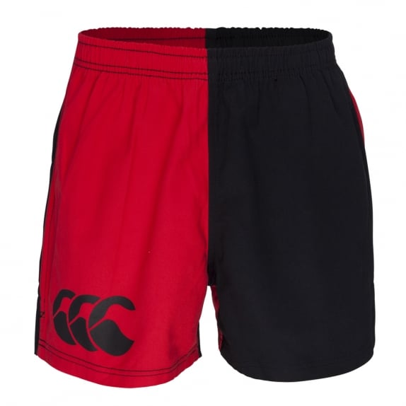 COTTON TWILL HARLEQUIN SHORT SCARLET/BLACK
