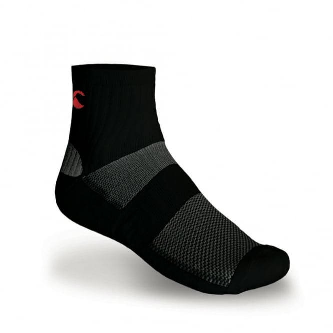 DRYSOK 1/4 SPORT SOCK BLACK/RED