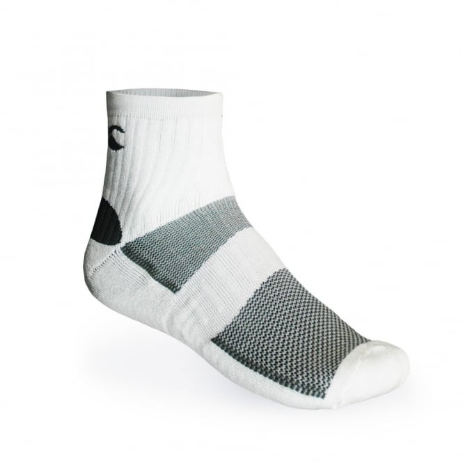 DRYSOK 1/4 SPORT SOCK WHITE/GREY