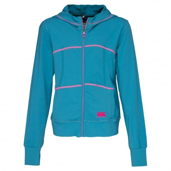 GIRLS TRAINING ZIP THRU HOODIE ALGIERS BLUE