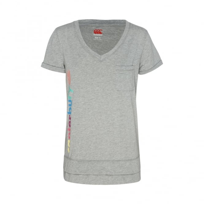 HAPPY GO LUCKY TEE MID GREY MARLE