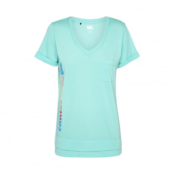 HAPPY GO LUCKY TEE POOL GREEN