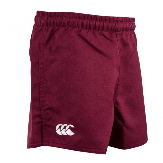 KIDS POLY ACTION SHORT MAROON