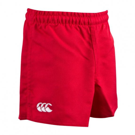 KIDS POLY ACTION SHORT SCARLET