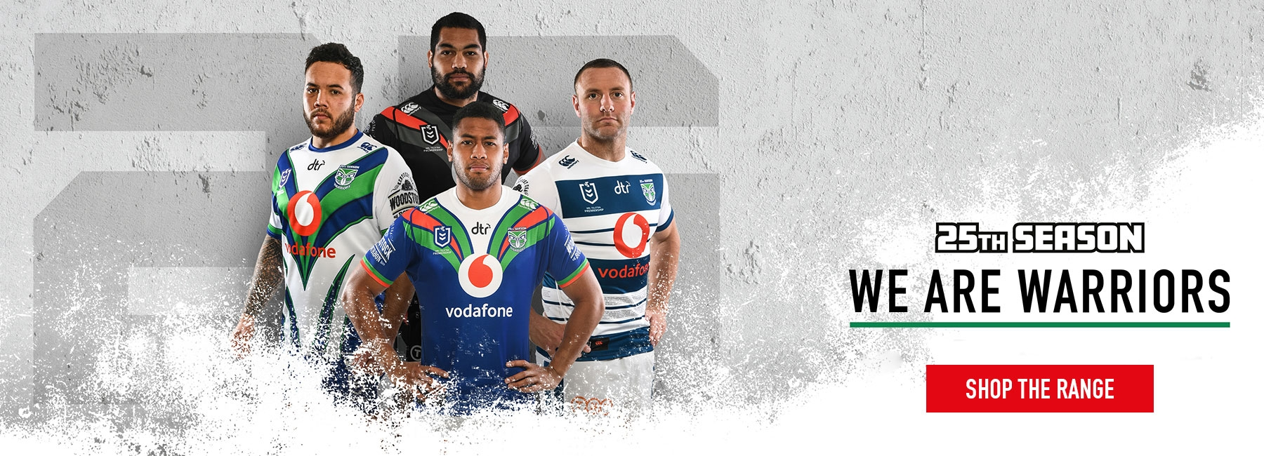 Vodafone Warriors 2019 Range