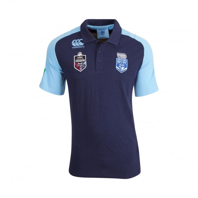 NSW BLUES NSW SOO RAGLAN POLO 2018