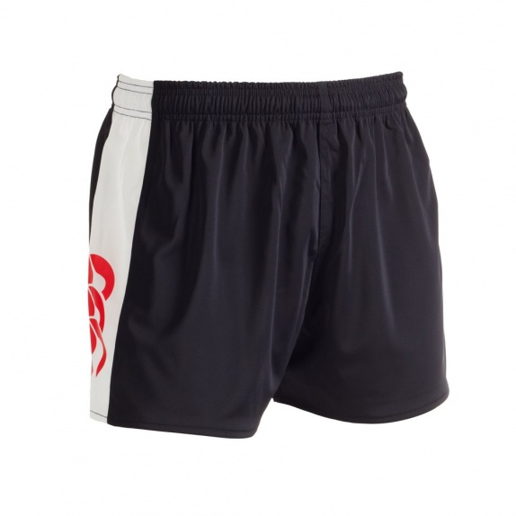 PANELLED POLYESTER SHORT BLACK