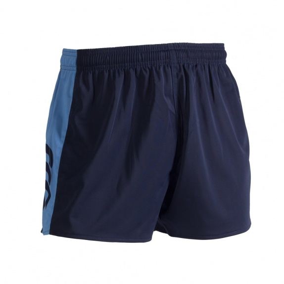PANELLED POLYESTER SHORT NAVY