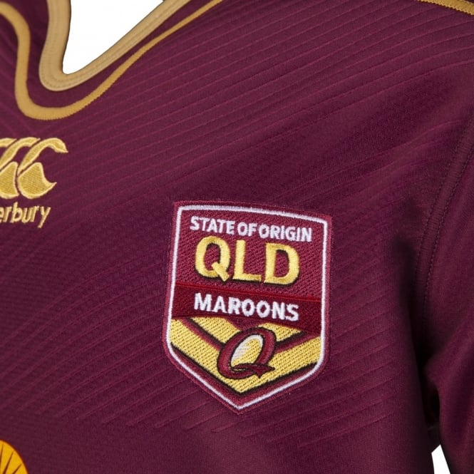 QLD 2016 REPLICA ON FLD JERSEY MAROON - JUNIOR