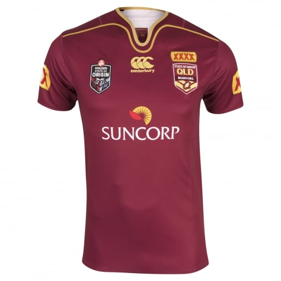 QLD REPLICA ON FIELD JERSEY MAROON