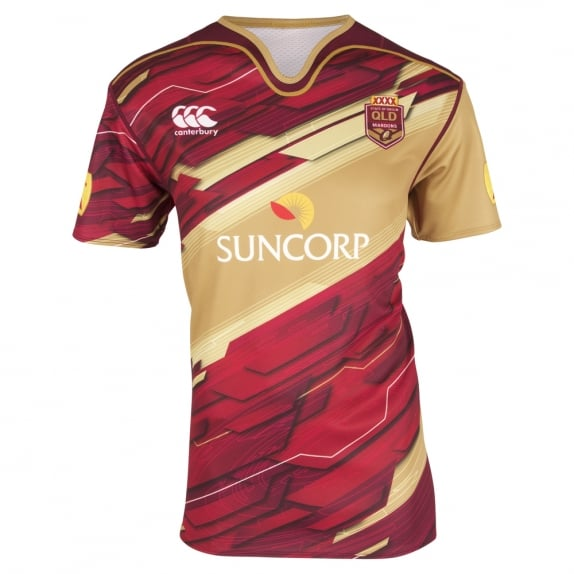 QLD REPLICA TRAINING JERSEY MAROON