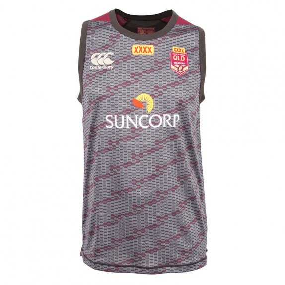 QLD REPLICA TRAINING SINGLET PHANTOM