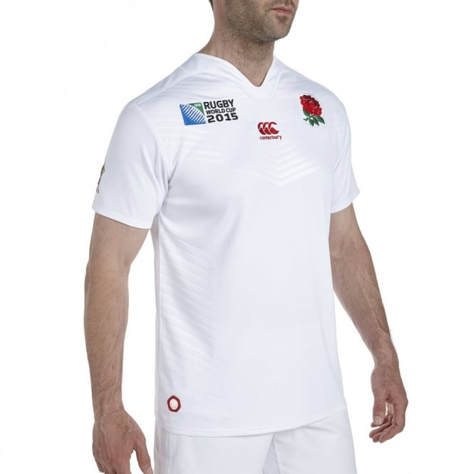 RWC ENGLAND HM PRO S/S RUGBY BRIGHT WHITE