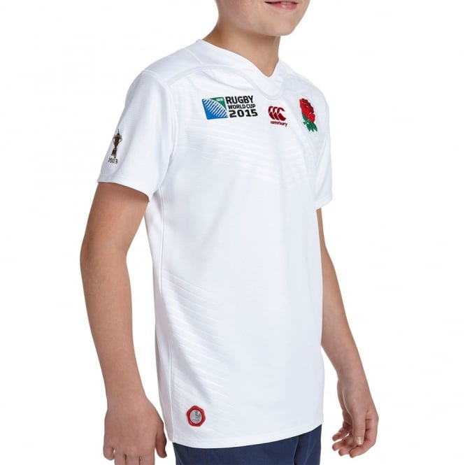 RWC ENGLAND HOME S/S RUGBY KID BRIGHT WHITE