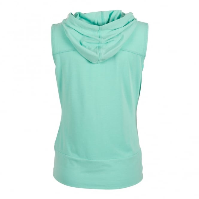 SLEEVELESS HOODED TEE - COCKATOO