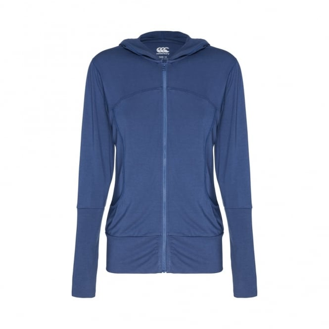 SOLO ZIP THRU HOODED TOP BLUE DENIM MARLE
