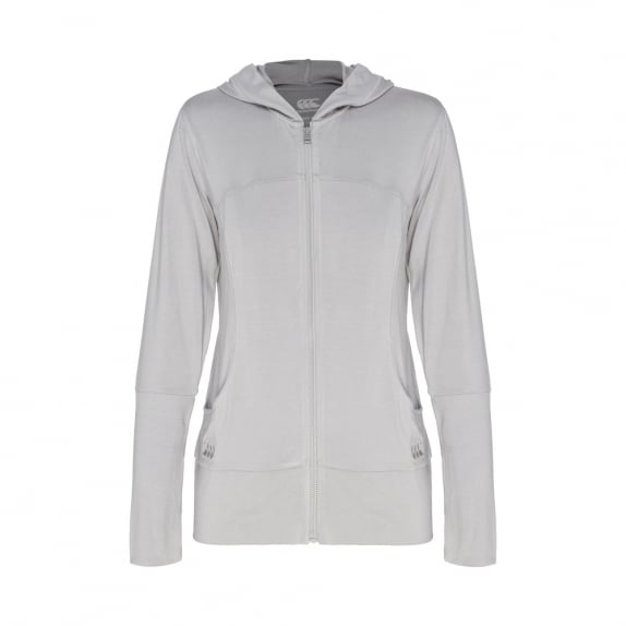 SOLO ZIP THRU HOODED TOP - WOMENS