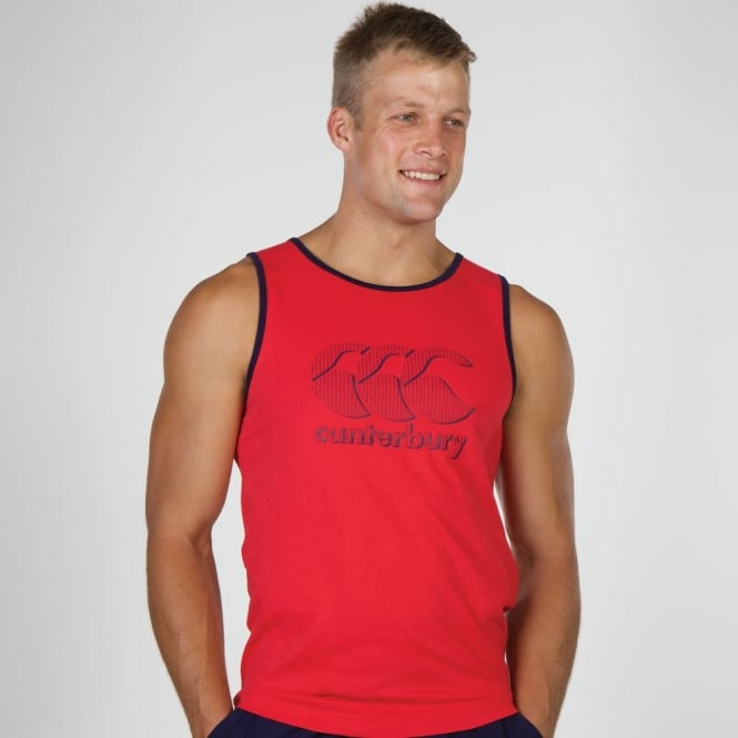 STRIKE LOGO SINGLET TRUE RED