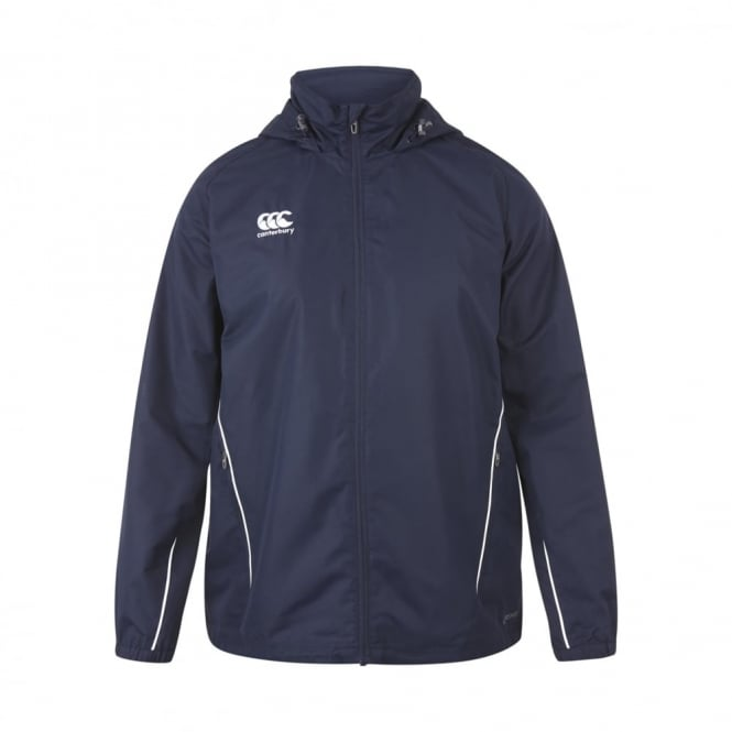 TEAM FULL ZIP RAIN JACKET NAVY 2016