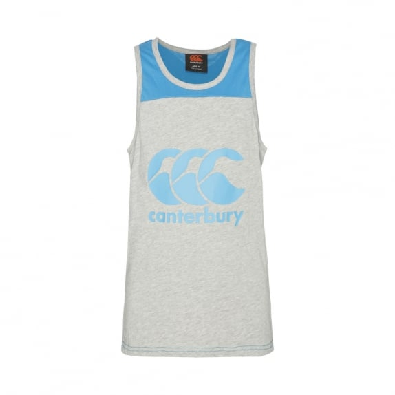 TRY LINE SINGLET MID GREY MARLE - BOYS