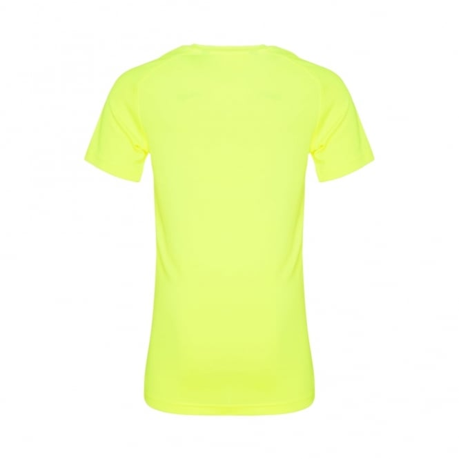 VAPODRI POLY LARGE LOGO TEE SAFETY YELLOW - BOYS