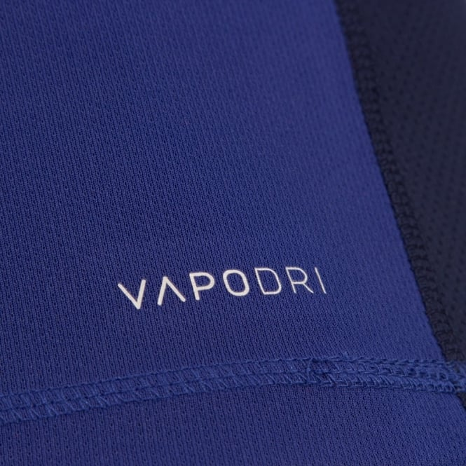 VAPODRI POLY SMALL LOGO SINGLET CLEMATIS BLUE