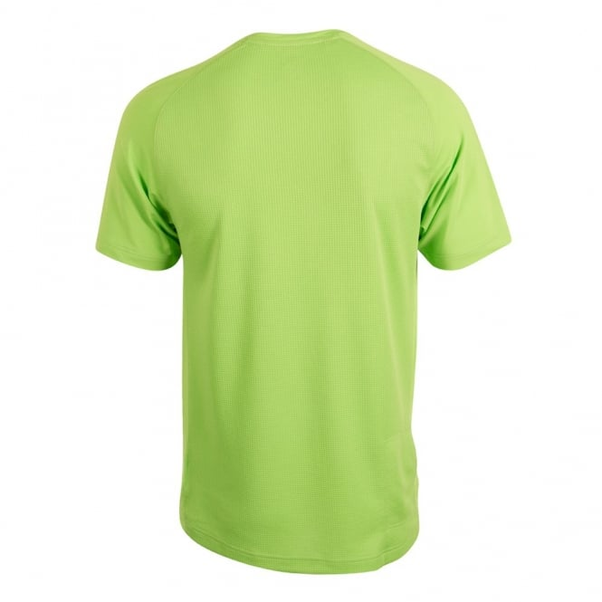 VAPODRI SUPERLIGHT LOGO TEE FLASH GREEN/WHITE