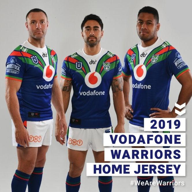 ba2124b39 Vodafone Warriors ON FIELD HOME JERSEY 2019 - Mens from Canterbury NZ