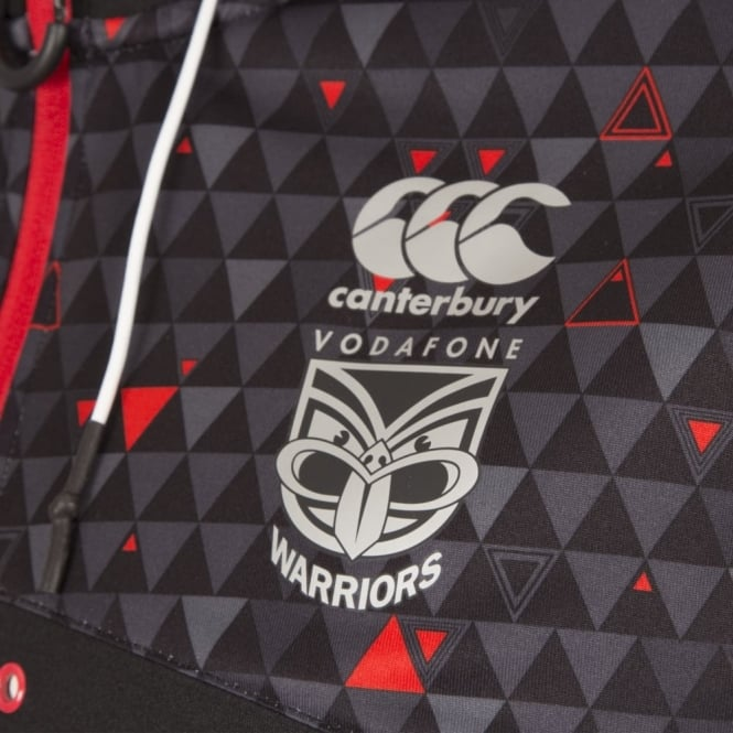 WARRIORS ZIP THRU TRAINING HOODIE 2017